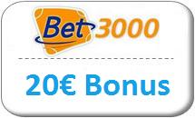 Bet3000 Gutschein 20 Euro
