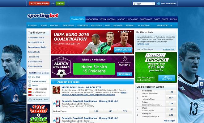 Sportingbet Webseite