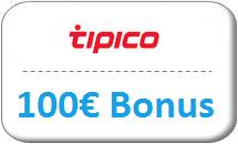Tipico Gutschein 100€ Bonus
