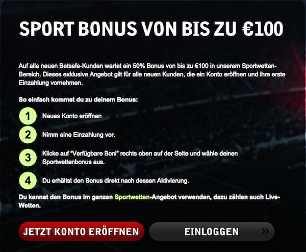 Betsafe Gutschein - Bonus